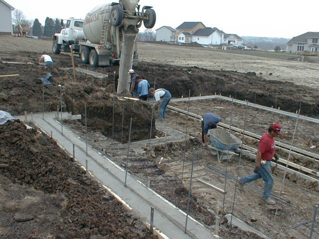 More Footings Being Poured